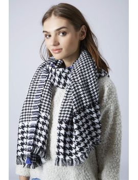 mixed-dogtooth-scarf by topshop