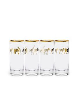 gold-animal-parade-glassware by cwonder