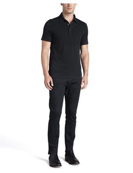 patch-pocket-polo-&-straight-fit-denim-jeans by ralph-lauren-black-label