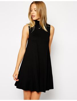 asos-sleeveless-swing-dress-with-poloneck by asos-collection