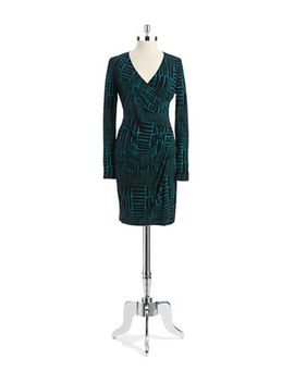 patterned-wrap-dress by lord-and-taylor
