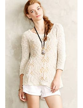 sylt-pointelle-pullover by anthropologie