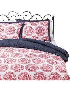 pink-medallion-comforter-set---xhilaration by xhilaration