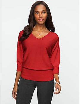 dolman-v-neck-sweater by talbots