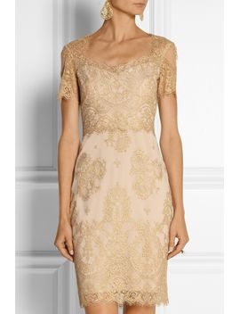 metallic-lace-dress by marchesa-notte