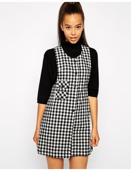 pop-boutique-pinafore-dress-in-check by pop-boutique