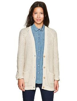 mesh-stitch-cardigan by gap