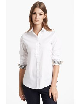 shirt-with-check-contrast by burberry-brit