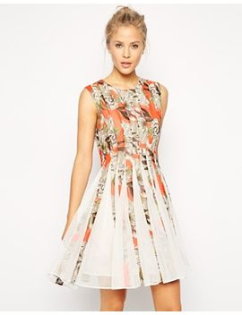 asos-floral-mesh-insert-dress by asos-collection