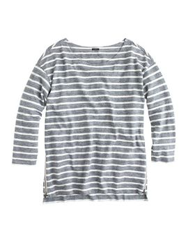 side-zip-stripe-t-shirt by jcrew