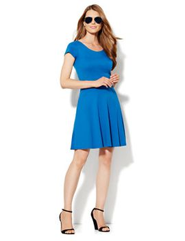 seamed-fit-&-flare-dress by new-york-&-company