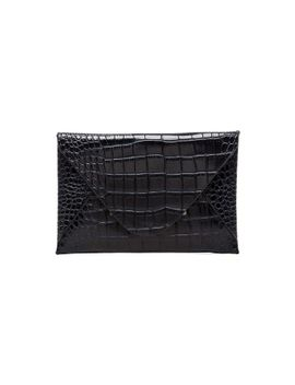 harlow-crocodile-envelope-clutch by bcbgmaxazria