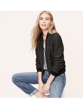 knit-bomber-jacket by loft