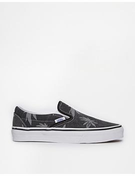 classic-van-doren-palm-print-slip-on-trainers by vans