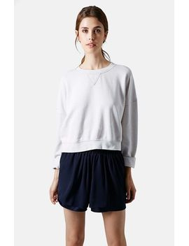 long-sleeve-burnout-sweater by topshop