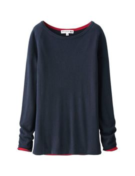 women-idlf-cashmere-blend-crew-neck-sweater by uniqlo