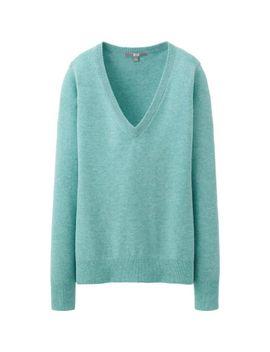 women-cashmere-v-neck-sweater by uniqlo
