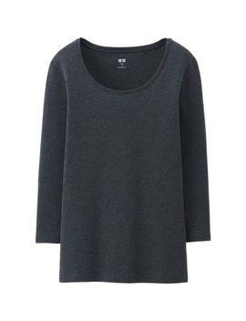 women-supima-cotton-crew-neck-3_4-sleeve-t by uniqlo