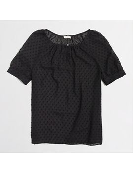 factory-chiffon-dot-top by jcrew