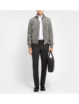 suede-bomber-jacket by brioni