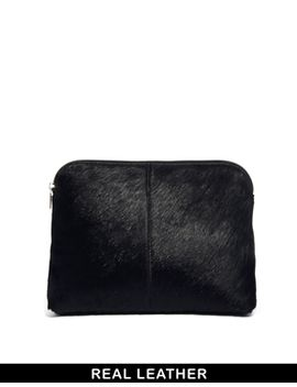 asos-clutch-bag-in-pony-effect-leather by asos-collection