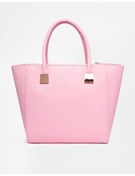ted-baker-teryn-zip-detail-crosshatch-shopper-bag by ted-baker