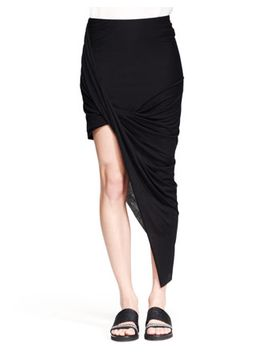 kinetic-asymmetric-wrap-skirt by helmut-lang