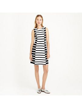 colorblock-stripe-dress by jcrew