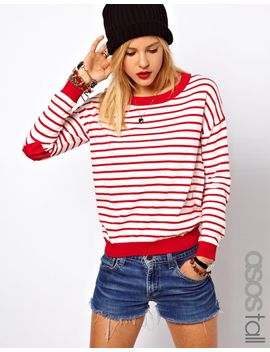 asos-tall-jumper-in-stripe-with-heart-elbow-patch by asos