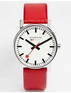 mondaine-quartz-large-evo-leather-strap-watch by mondaine