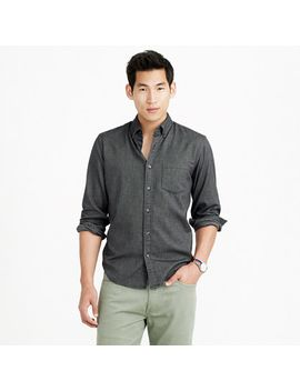 slim-heather-twill-shirt-in-herringbone by jcrew