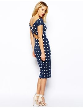 asos-bardot-cross-back-spot-midi-dress by asos-collection