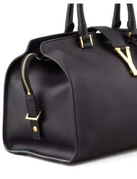 y-ligne-soft-leather-bag,-black by saint-laurent