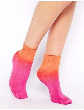 calvin-klein-megan-dip-dye-ankle-sock by asos
