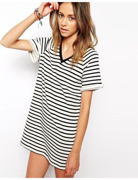 the-fifth-drop-the-game-t-shirt-dress-in-stripe by the-fifth