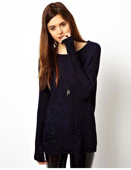 asos-chenille-jumper-with-ladder-detail by asos-collection