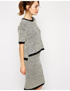 asos-co-ord-knitted-t-shirt-in-spot by asos-collection