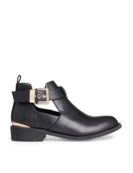 river-island-black-jennie-cut-out-ankle-boots by asos