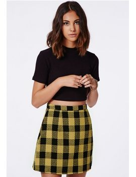 ellie-check-a-line-skirt by missguided