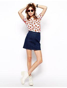 asos-denim-a-line-skirt-in-indigo by asos-collection