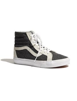 vans®-&-madewell-classic-sk8-hi-high-tops-in-wool by madewell