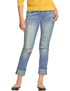womens-distressed-straight-fit-jeans by old-navy