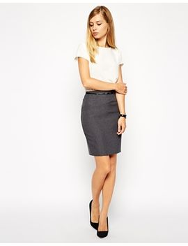 asos-belted-pencil-skirt by asos-collection