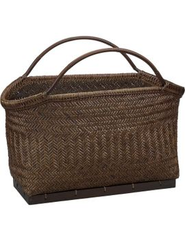 pramana-magazine-basket by crate&barrel