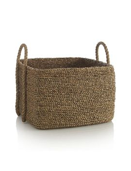 tyler-square-basket-with-rope-handle by crate&barrel
