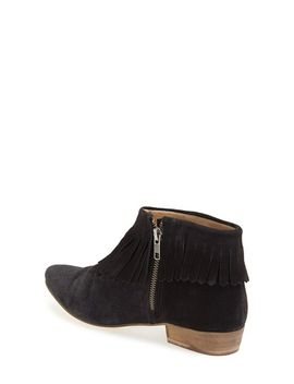 blinked-fringe-ankle-boot by topshop