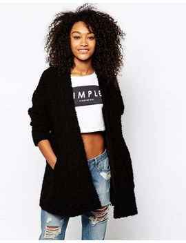 monki-fluffy-cardigan by monki