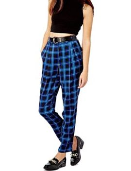 blue-grid-skinny-harem-pants by choies