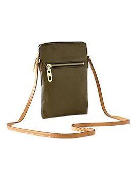 leather-crossbody-bag by gap