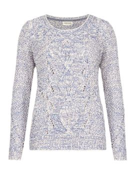 pure-cotton-cable-knit-twisted-jumper by marks-&-spencer